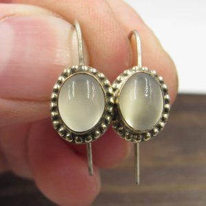 Sterling Silver Rustic Unknown Material Earrings